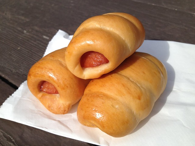 Mini hot dog rolls - D T Dim Sum & Tea