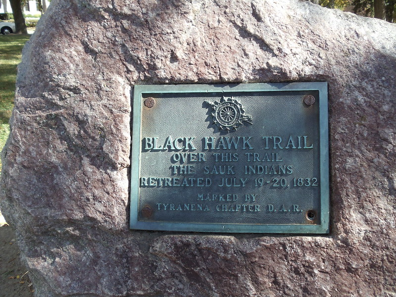 Black Hawk War marker in Commons Park