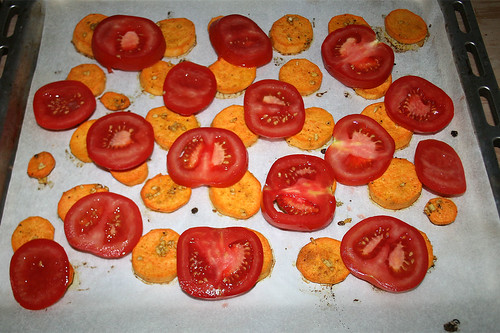 36 - Tomaten verteilen / Add tomato slices