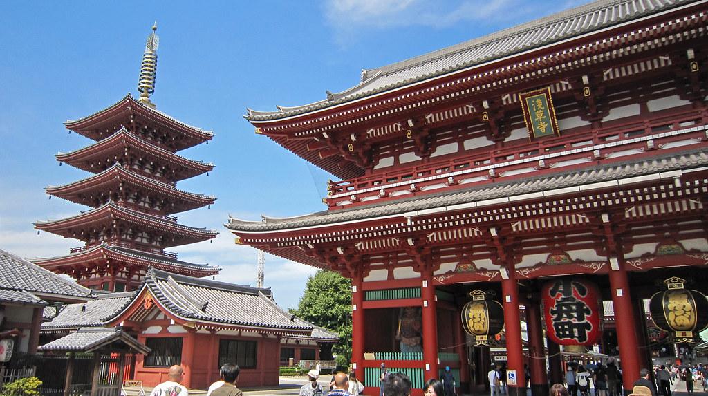 Pagoda de Cinco Pisos, junto al templo budista Senso-ji en Tokio