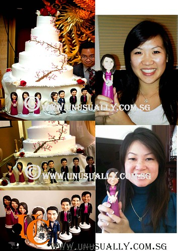 Personalized 3D Wedding Cake Topper Figurines - © www.unusually.com.sg