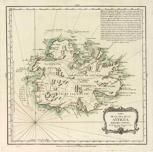 002-Carta de la isla de Antigua 1780