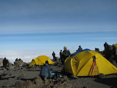 Camp – high atop Mt. Kilimanjaro