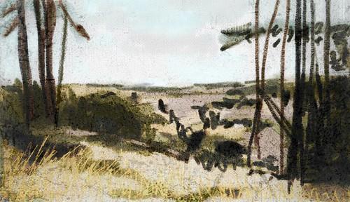 trees iris oregon painting landscape sketch artrage procreate ipad photogene mixapp ipadart snapseed brushes3