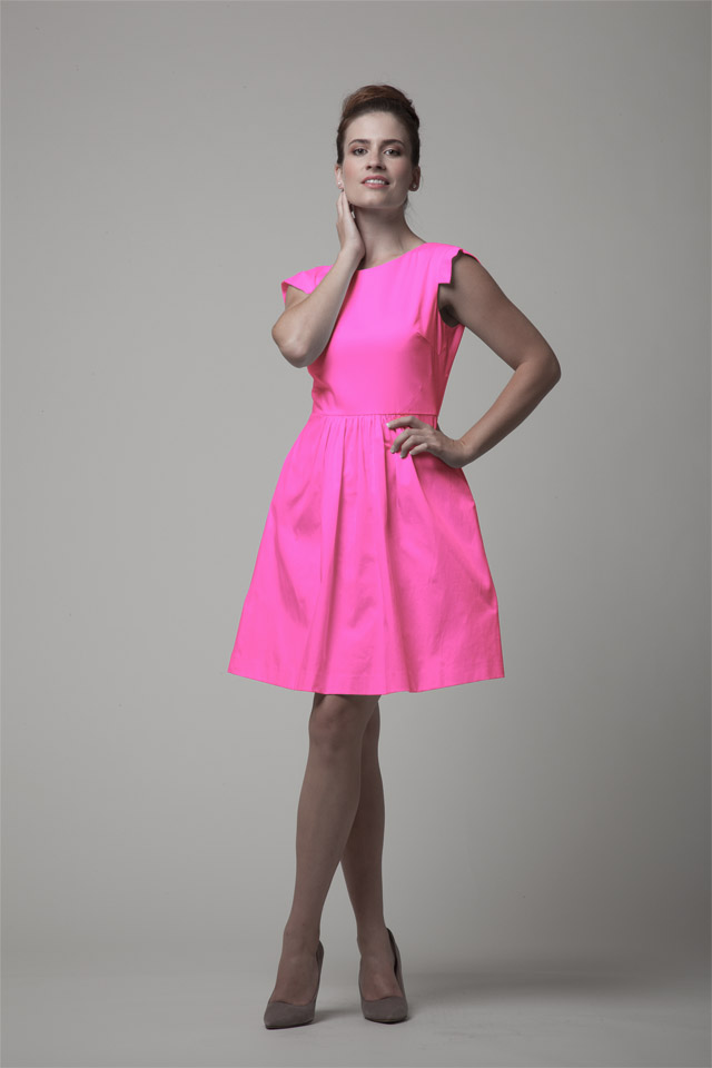 Bow and Drape full skirt pink