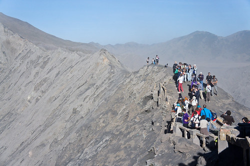 along the caldera