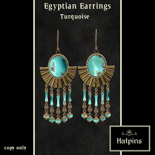 Egyptian Earrings - Turquoise - copy/mod