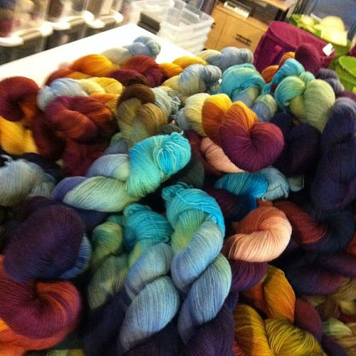 20%  of our sock yarn for Rhinebeck !! Knitters you are in our thoughts!