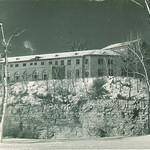 East side of Law Commons, the University of Iowa, winter 1948