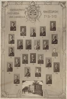 Trondhjems Tekniske Mellomskole, Årsklasse 1916 - 1918