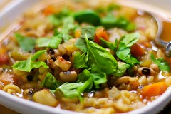 Beans & pasta soup