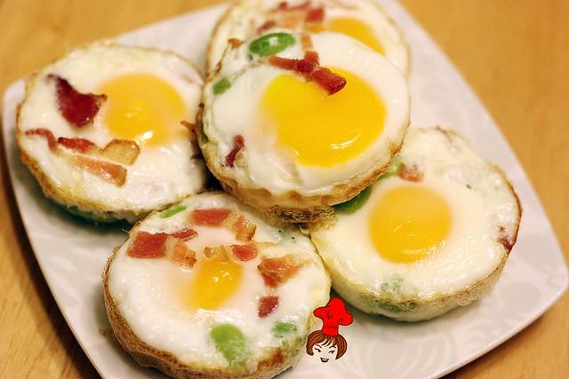 早餐新運動- 8分熟烤雞蛋 oven baked egg 4