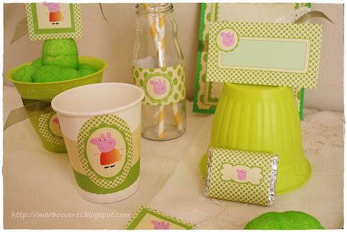 kit imprimbible Peppa Pig verde Merbo Events