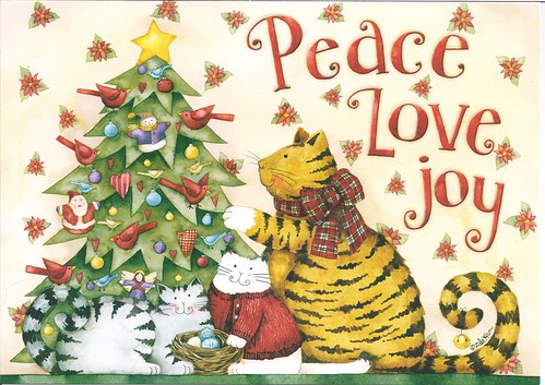 Peace Love Joy Christmas Cats