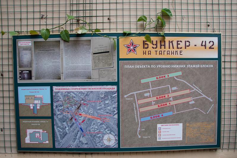 Bunker-42 map (Moscow) - Карта Бункера-42 (Москва)