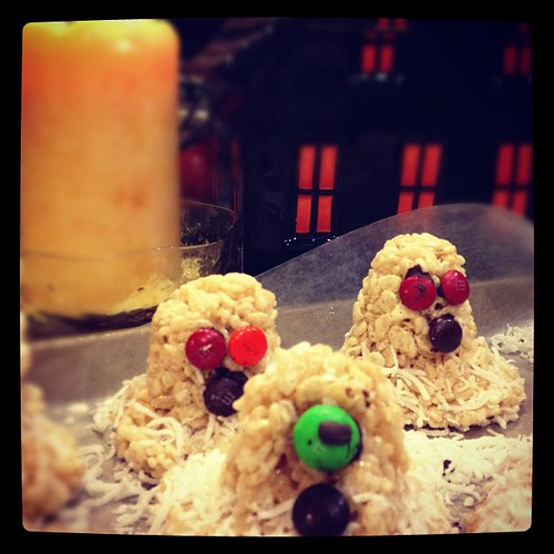 Ghost Rice Krispy treats were made today.... #Boo