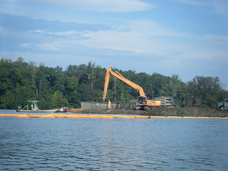 Emptying a Silt Barge