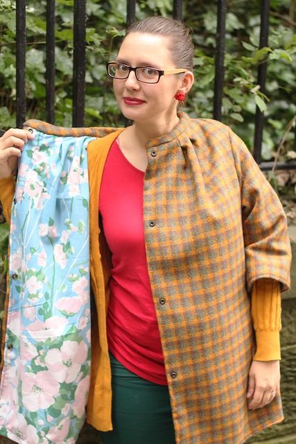 handmade maternity coat