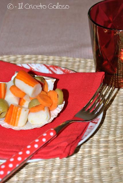 Antipasto di surimi alle olive