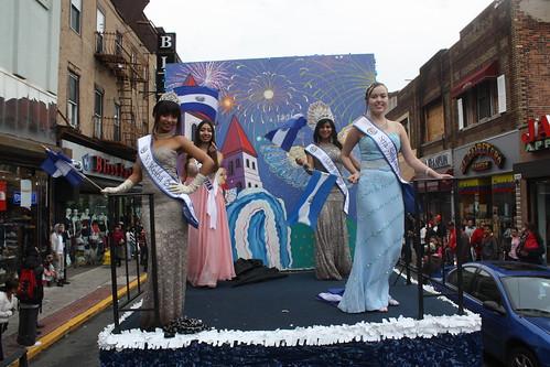 reinas de belleza de la asociacion Cuzcatlan