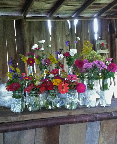 how to arrange your DIY flowers by Shady Grove Gardens