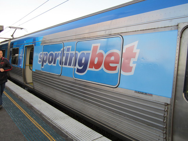 Sportingbet ad on train