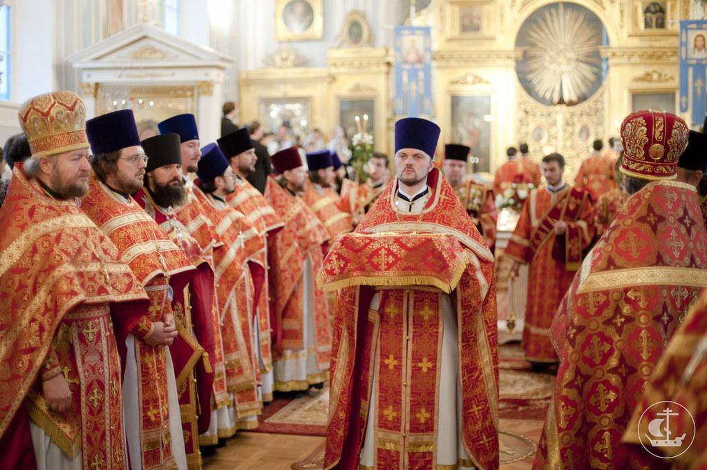 9 октября 2012, Литургия в престольный праздник Санкт-Петербургской духовной академии