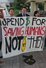 Spend $ for saving humans, not bombing them