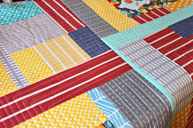 quilting as you go -- press top