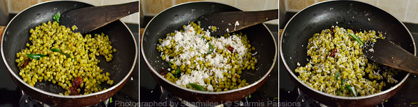 How to make green gram sundal - Step2