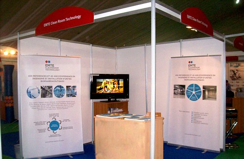 Stand EMTE Cleanroom Technology en Algeria Pharma