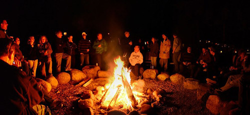 Science Getaways campfire