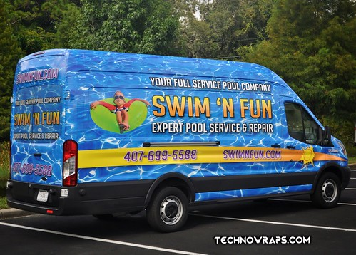 Van vehicle vinyl wrap by TechnoSigns in Orlando, Florida