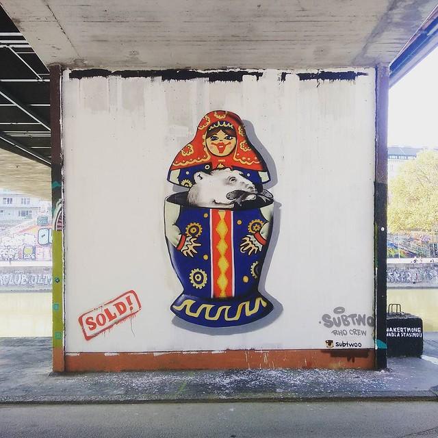 #streetart #graphite #babushka #art #vienna #donaukanal #austria
