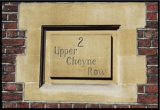 Upper Cheyne Row street sign, London