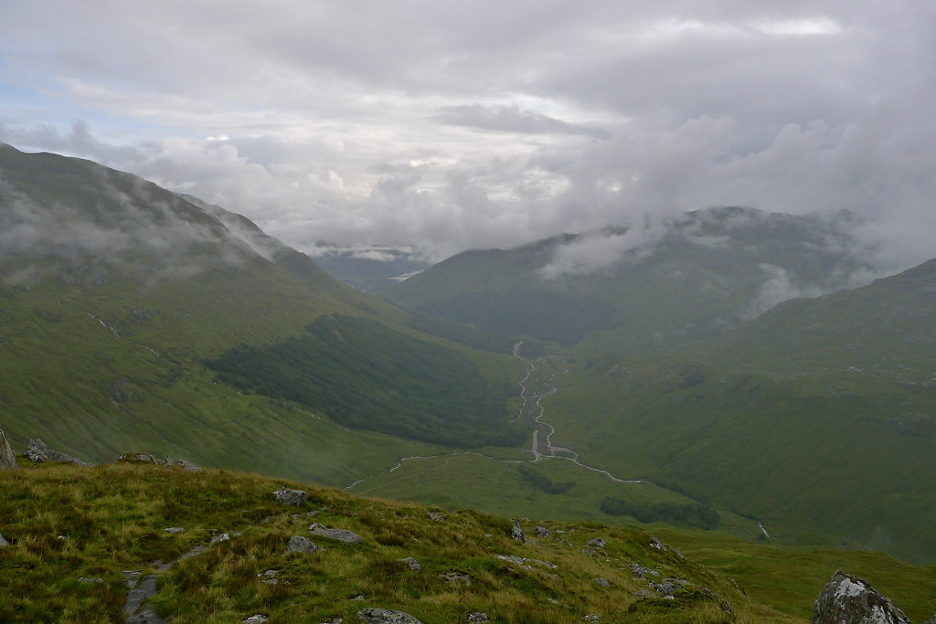 Glen Finnan from the descent of Sgurr Thuilm