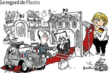 12e15 LMonde Plantu Hollande llega al Elíseo y cena con Merkel Uti