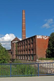 Verfallenes Fabrikgebäude in Chemnitz