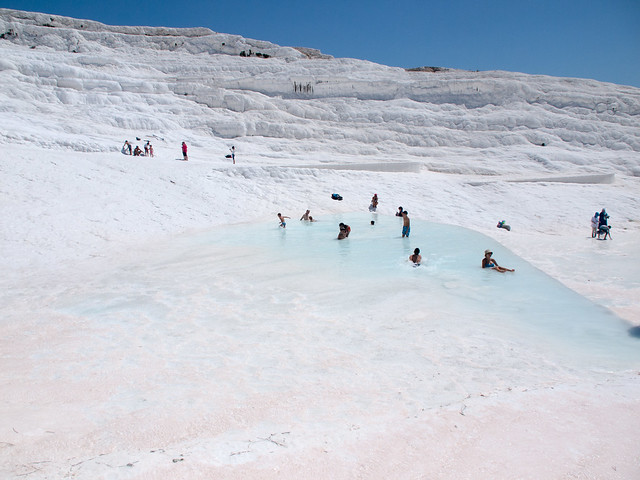 On Pamukkale mountain