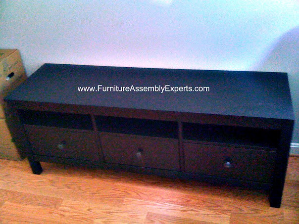 IKEA Hemnes tv stand unit assembly service in Washington D