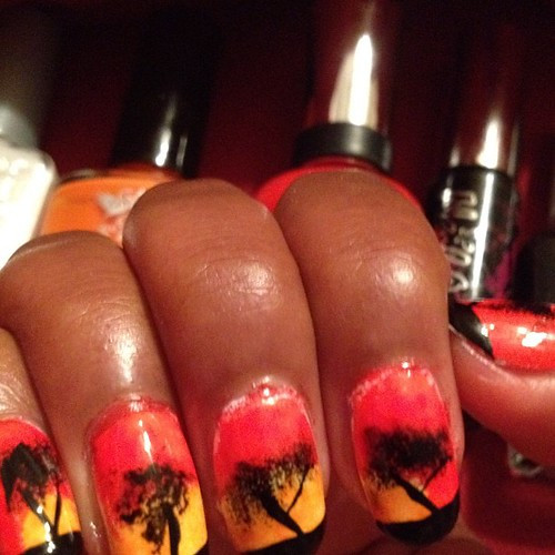 Lion King inspired nails!