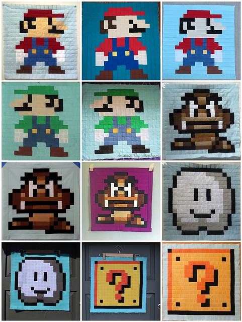 Super Mario Brothers Quilt Along - YOUR Progress!