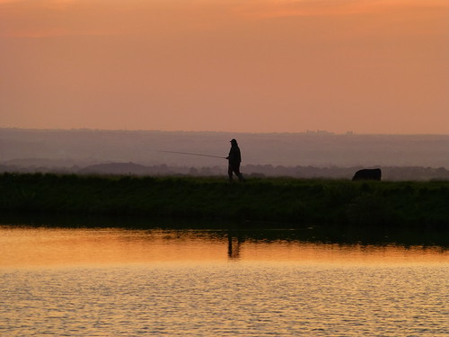 sunset summer reflection water grass cow fishing fisherman quote reservoir lancashire september explore rod flyfishing banking longridge ribblevalley lancashirelass toplodge tootleheightsreservoir lancashirelassphotos suebristo