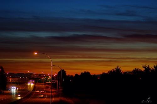 晚上10點的夕陽
