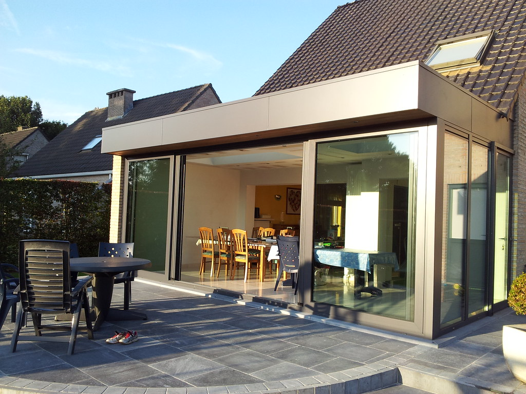Veranda uitbouw modern aluminium moderne veranda te temse flickr