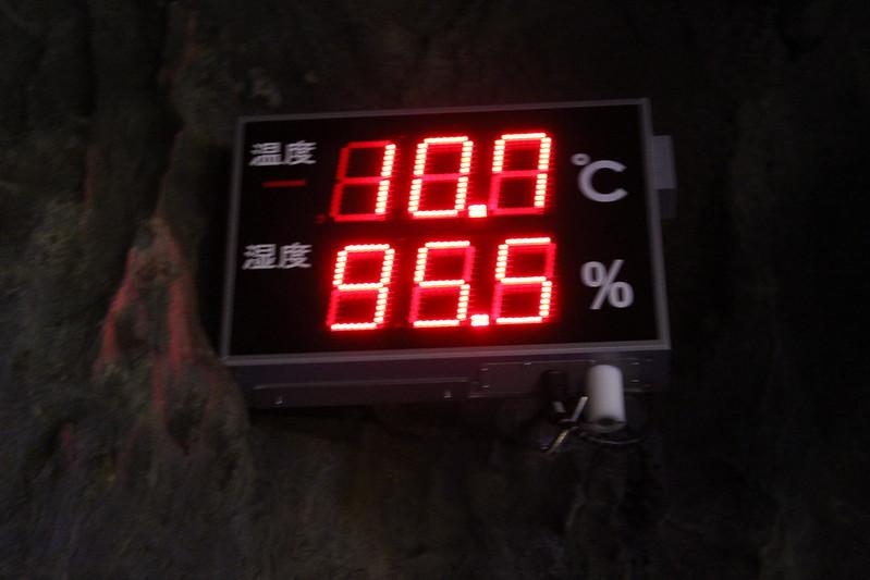 龍泉洞内の気温