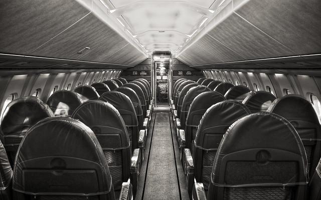 Concorde: Cabin - B&W