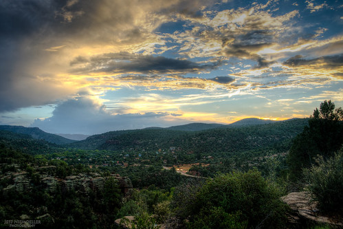 sunset arizona mountains beautiful clouds forest payson
