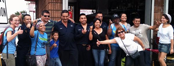Carwasheros celebrate historic vote
