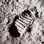 Archive: First Footprint on the Moon (NASA, Marshall, 07/69)
